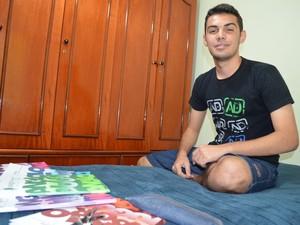 Beltran passou ano estudando deitado na própria cama - Piracicaba (Foto: Thomaz Fernandes/G1)