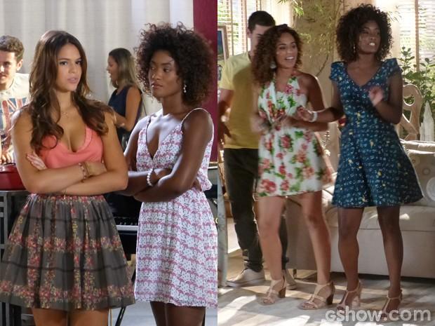 Muito estilo nos looks das meninas do Leblon (Foto: Em Familia/TVGlobo)