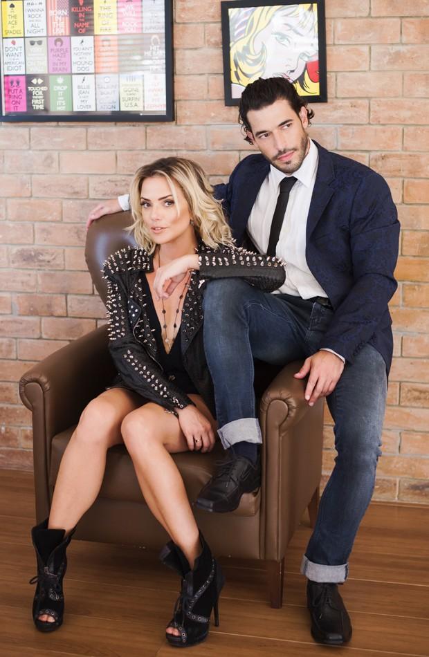 Natallia Rodrigues e o noivo, o ator e artista plástico Pedro Henrique Moutinho (Foto: Mi Garcia)