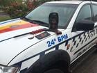 PM do DF apreende espingarda abandonada por suspeito em fuga