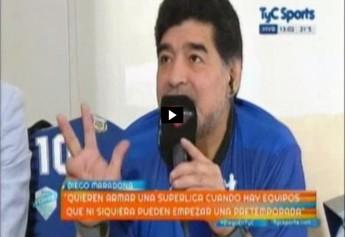 Maradona Decime que se siete (Foto: Reprodução/TyC Sports)