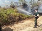 Incêndio destrói área de pastagem no Morro da Baleia em Jundiaí