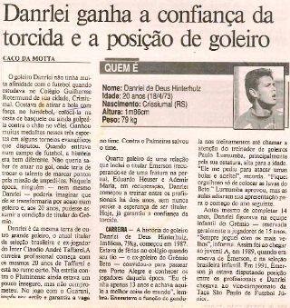 danrlei jornal grêmio (Foto: Reprodução)