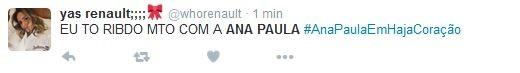 Fã elogia participação de Ana Paula Renault em Haja Coração (Foto: Reprodução/Twitter)