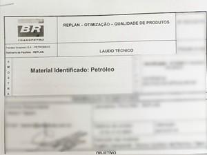 Laudo comprova que combustível  em caminhão era petróleo da Petrobras (Foto: G1)