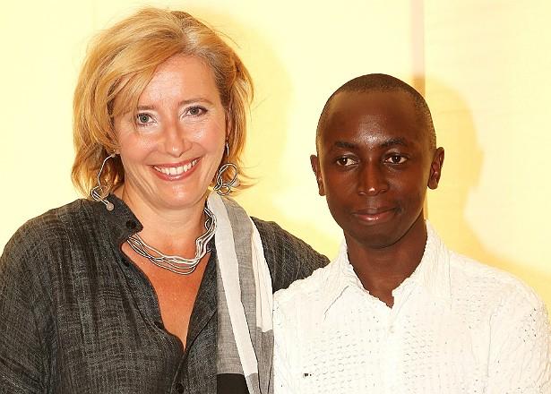 Emma Thompson adotou o ruandês Tindyebwa Agaba (foto) já adolescente, com o marido, o ator Greg Wise. Ela também teve uma filha por meio de fertilização in vitro, chamada Gaia. (Foto: Getty Images)