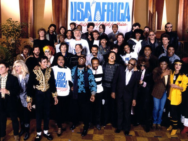 'We are the world' reuniu artistas para single contra pobreza na África (Foto: Divulgação)