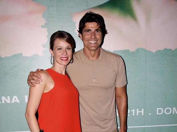 Reynaldo Gianecchini e Mariana Ximenes em estreia de peça na Zona Sul do Rio (Foto: Alex Palarea/ Ag. News)