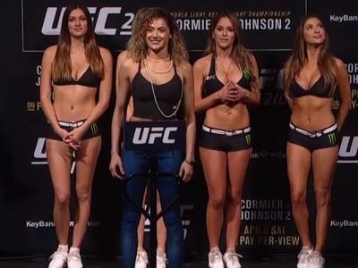 Pearl Gonzalez, UFC 210, pesagem, MMA (Foto: Reprodução/Combate)