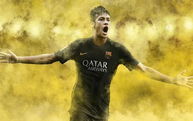 camisa barcelona preta  (Foto: Reprodução / Site Oficial do Barcelona)