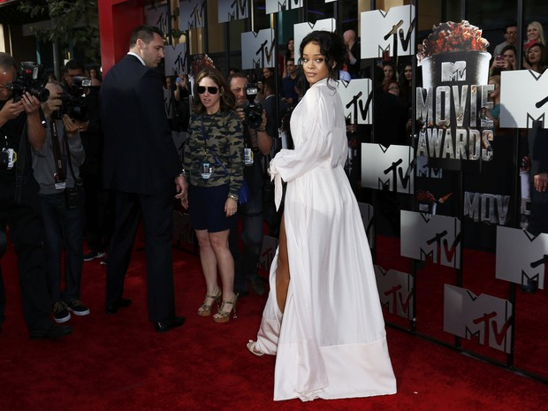 Rihanna no MTV Movie Awards em Los Angeles, nos Estados Unidos (Foto: Danny Moloshok/ Reuters)