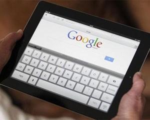 Página de busca do Google vista em um tablet (Foto: Regis Duvignau/Reuters)