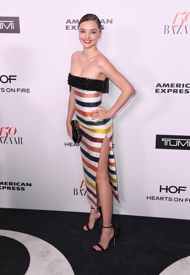 Miranda Kerr em evento em Los Angeles, nos Estados Unidos (Foto: Frazer Harrison/ Getty Images/ AFP)