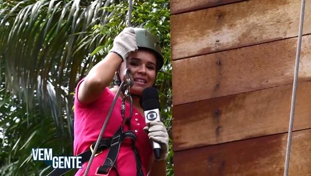 Débora Rodrigues, apresentadora e repórter do programa 'Vem com a gente' (Foto: Foto reprodução TV Tapajós)