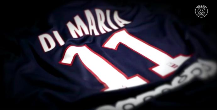 Di María camisa 11 PSG (Foto: Reprodução / Youtube)
