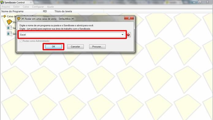"""Clicando na opção """"Rodar Qualquer Programa"""", escreva o nome do aplicativo e aperte em """"OK"""" (Foto: Reprodução/Daniel Ribeiro)"""