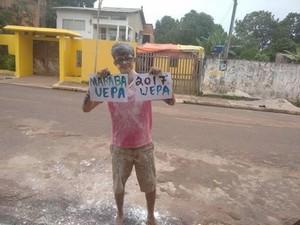 Wanderson comemora aprovação (Foto: Thiago Noleto/Reprodução Facebook)