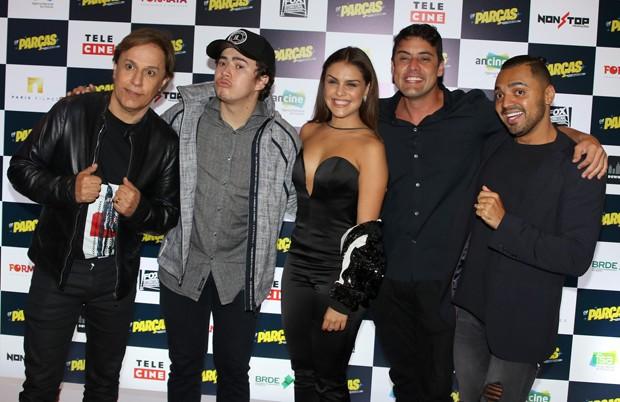 Parte do elenco: Tom Cavalcante, Whindersson NUnes, Paloma Bernardi, Bruno de Luca e Tirulipa  (Foto: Thiago Duran/AgNews)