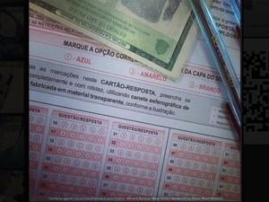 Estudante postou a foto do cartão de respostas do Enem (Foto: Reprodução)