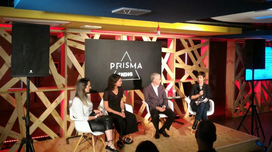 Palestrantes do painel debatem sobre o uso da natureza no processo de inovação  (Foto: Filipe Oliveira)