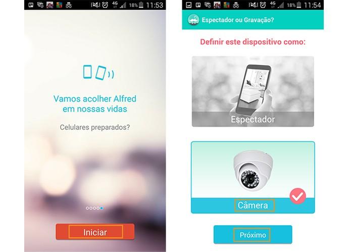 Escolha o modo do smart e inicie o acesso ao app (Foto: Reprodução/Barbara Mannara)