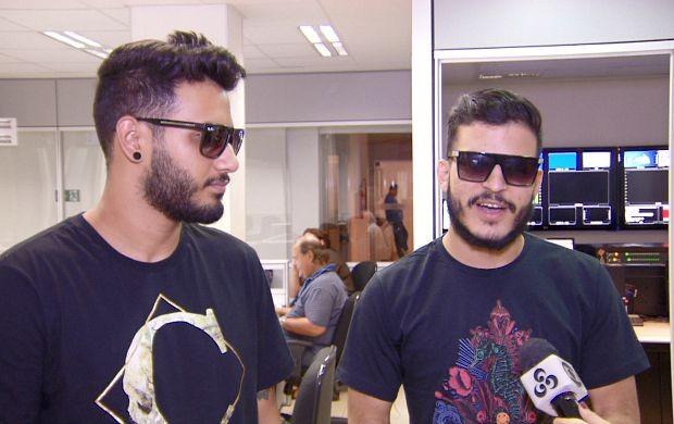 Miguel Pacheco e Criston Lucas falam sobre expectativa para lançamento do 1º CD da banda Versalle (Foto: Bom Dia Amazônia)