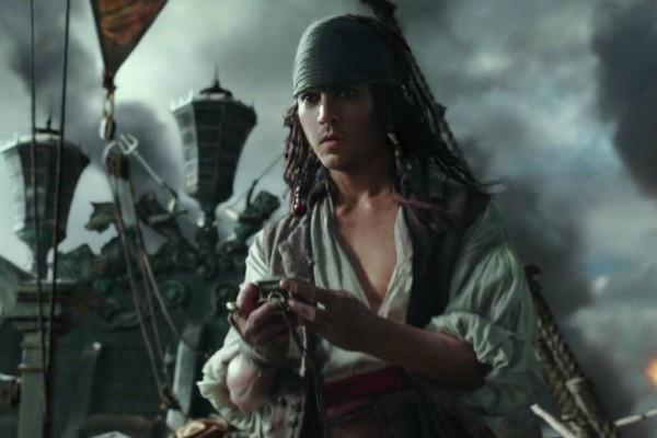 O personagem Jack Sparrow rejuvenescido no novo Piratas do Caribe (Foto: Divulgação)