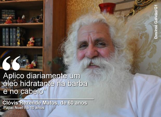 Clóvis Rezende Matos, de 60 anos, atua como Papai Noel há 10 anos (Foto: Desireé Galvão/ G1)