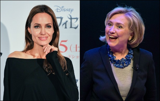 Angelina Jolie e Hillary Clinton (Foto: Getty Images)
