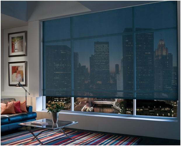 Os tecidos escuros garantem o controle de claridade e permitem uma boa visualização externa (Foto: Divulgação)