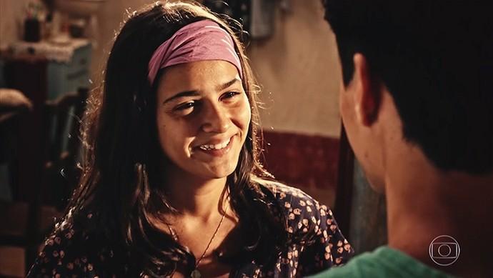 Olívia fica encantada em conversa com Miguel (Foto: TV Globo)