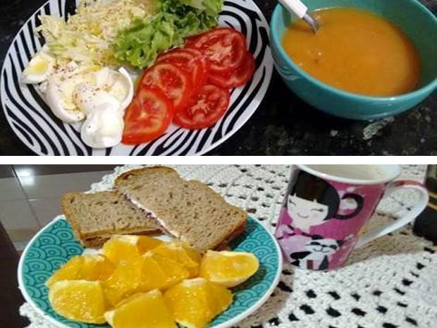 Sandra passou a comer verduras e legumes, carnes magras e a fazer pães e iogurte (Foto: Arquivo pessoal/Sandra Oorthey)