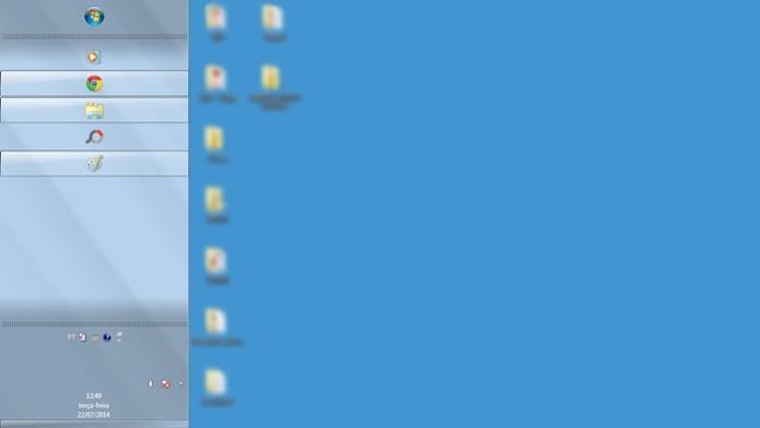 Barra de tarefas do Windows redimensionada (Foto: Reprodução/Raquel Freire)