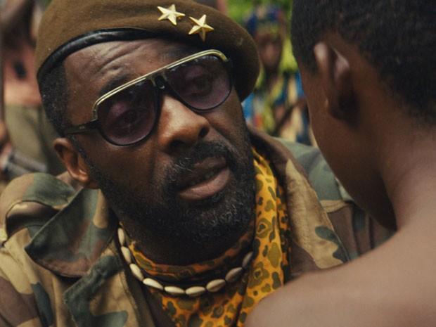 Idris Elba em cena de 'Beasts of no nation', primeiro longa do Netflix (Foto: Divulgação)