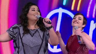 Fabiana Karla e Simone Gutierrez abrem o placar do 'Ding Dong'