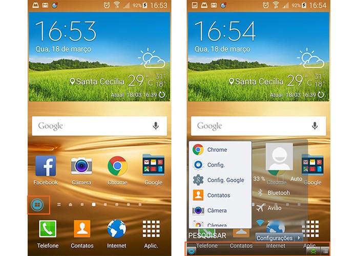 App Taskbar deixa Android com menu de Windows (Foto: Reprodução/Barbara Mannara)