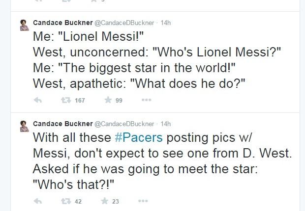David West diz não conhecer Messi