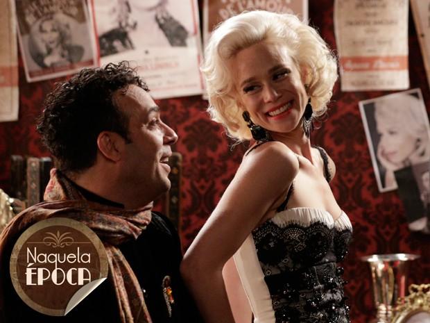 Aurora era uma das vedetes do Moulin Rouge (Foto: Fábio Rocha/TV Globo)