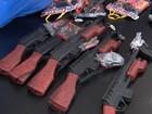 PRF apreende cerca de 1 mil armas de brinquedo que vinham do Paraguai