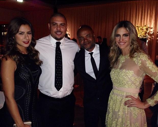 Paula Morais, Ronaldo, Ale de Souza e Fernanda Lima (Foto: Instagram / Reprodução)