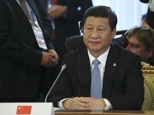 Presidente chinês Xi Jinping na primeira sessão de trabalho da Cúpula do G20 (Foto: Sergei Karpukhin/ AFP)
