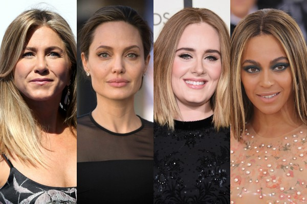 Jennifer Aniston, Angelina Jolie, Adele e Beyoncé (Foto: Getty Images)