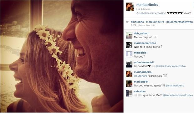 Maria Ribeiro comemora nascimento de filha de Gabriel Braga Nunes, no Instagram (Foto: Reprodução/Instagram)