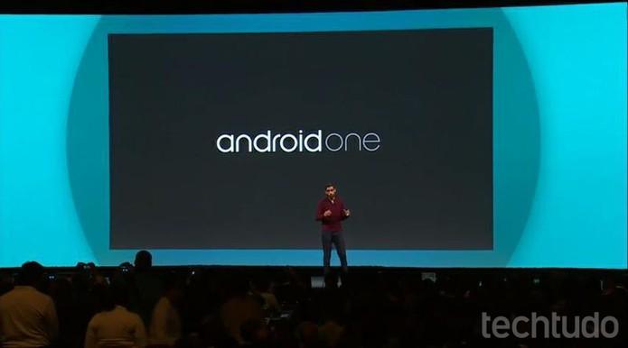 AndroidOne, uma iniciativa de Android baixo-custo, é apresentado na Google I/O (Foto: Reprodução / Google)