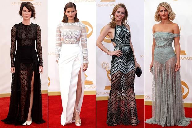 Tendências de moda no Emmy - Lena Headey, Kate Mara, Leslie Mann e Julianne Hough (Foto: AFP / Reuters)