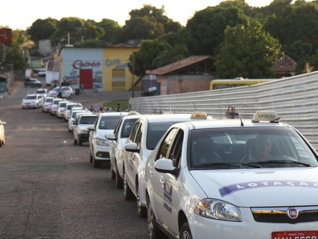 O táxi-lotação é o transporte coletivo mais usado pelos boa-vistenses (Foto: Inaê Brandão/G1 RR)