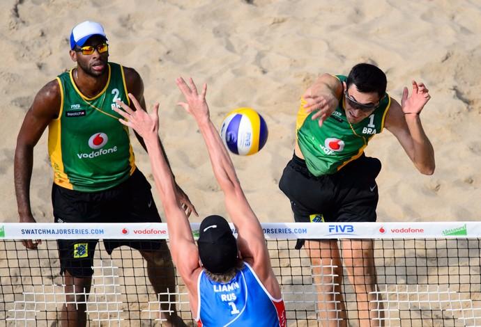 Evandro e André World Tour finals vôlei de praia Hamburgo (Foto: Divulgação/FIVB)