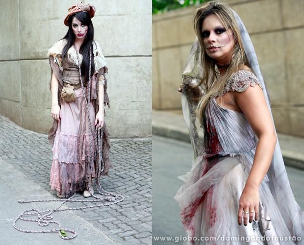 A caracterização do programa caprichou na maquiagem das beldades (Foto: Ellen Soares / TV Globo)