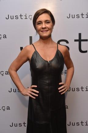 Adriana Esteves em evento de lançamento de Justiça (foto de arquivo) (Foto: João Miguel Júnior/ Globo)