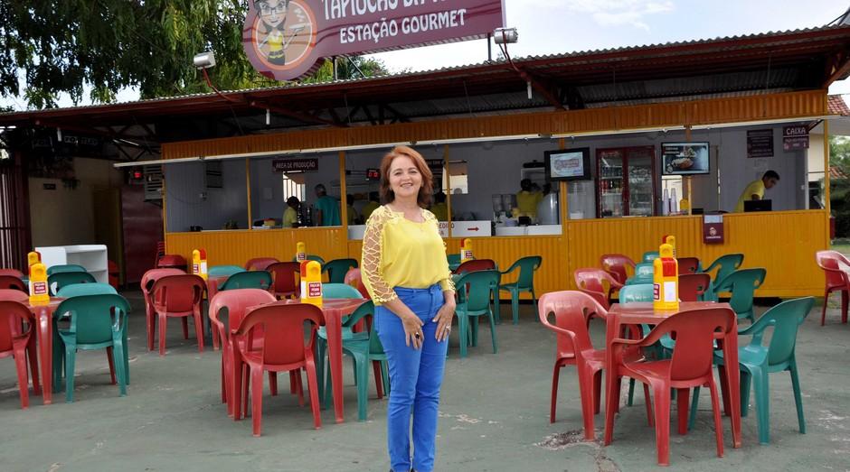 A empresária Maria Adeneide abriu a tapiocaria em 2012, no estado de Tocantins (Foto: Divulgação)